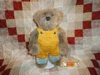 Ashton Drake Bear with Goldfish 1996 Etta Foran Pat Joho signed/nr Faux Mohair