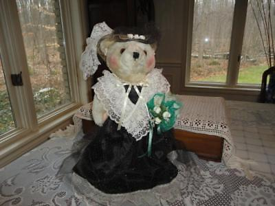 Wangs International Vintage VICTORIAN BEAR 14 Inch Rare