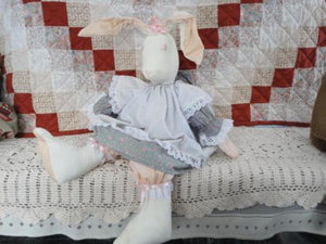 CANADA Artist OOAK RABBIT Cotton Dress Jumbo Handmade