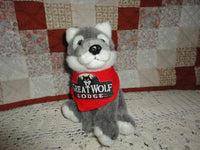 Great Wolf Lodge Petting Zoo GREY WOLF Toy with Bandana