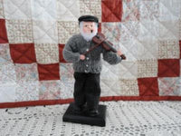Vintage Handmade Country Old Man Play Fiddle Figurine