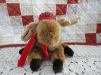 Dakin 1992 MOOSE Stuffed Plush with Hunting Hat