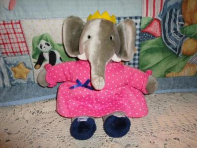 Gund Babar Celeste Elephant Plush 1992 Jadees Antique Bear Shoppe