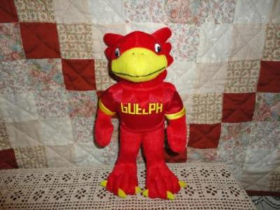 Guelph University Canada GRYPHON Mascot Autographed