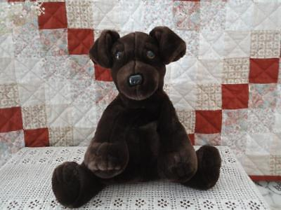 Purr-Fection MJC 1992 Brown DOG Very Heavy Stuffed 14 Inch