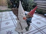 Rien Poortvliet David the Gnome Figurine Jonathan with Snowman Masterpiece RARE