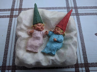 Rien Poortvliet David the Gnome Twins 195480 Stephie & Stophie Enesco Figures