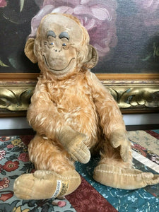 Antique 1940s Merrythought UK REGD Lawson Wood Gran'pop Monkey Ginger Ape 12""