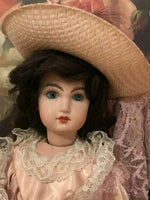 Estate of Canadian Doll Artist Joan Curtis Repro Jumeau Rene Bisque Handmade '80