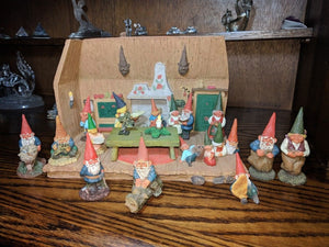 David The Gnome House 15 Figure Lot Klaus Wickl Rien Poortvliet 1994 Enesco