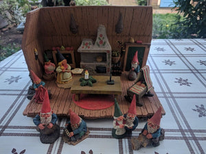 David The Gnome House 9 Figure Lot Klaus Wickl Rien Poortvliet 1994 Enesco