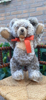 STEIFF Antique 1951-58 Zottelbear Zotty Bear 50cm 6350,2 Growler Grey Mohair