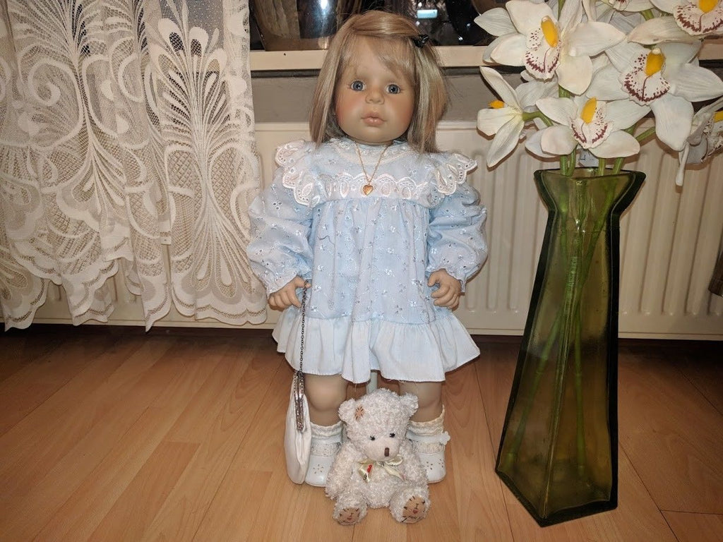 Vintage Zapf Creation Germany PERLE Toddler Girl Doll by Brigitte Leman 2 Feet