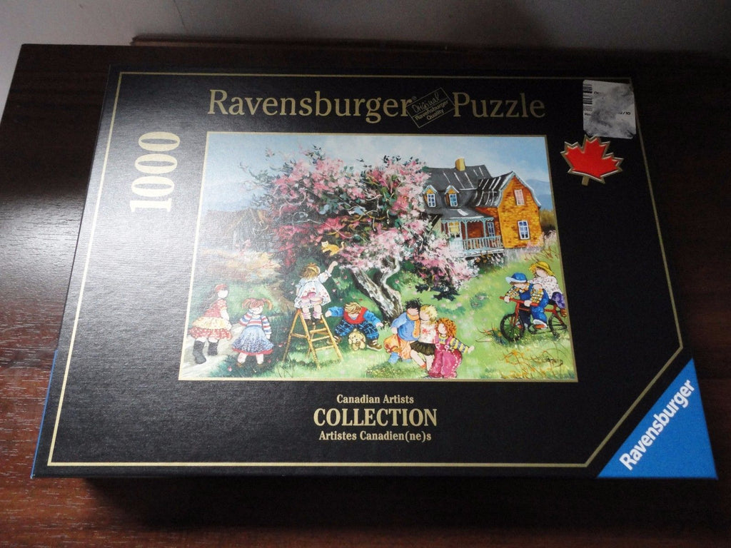 Ravensburger Puzzle Canadian Artist Pauline Paquin Kitten in the Tree 1000pc '08