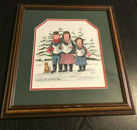 Canadian Artist Ina Morschauser Oh Come Let Us Adore Him Xmas Carols Art Print