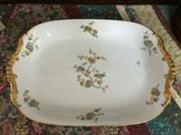 Antique France LIMOGES VIGNAUD Large Serving Platter Bird Pattern 1918-1940 RARE