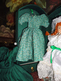 Anne of Green Gables Handcrafted Porcelain Doll Green Case 2 Outfits Bride 8in.