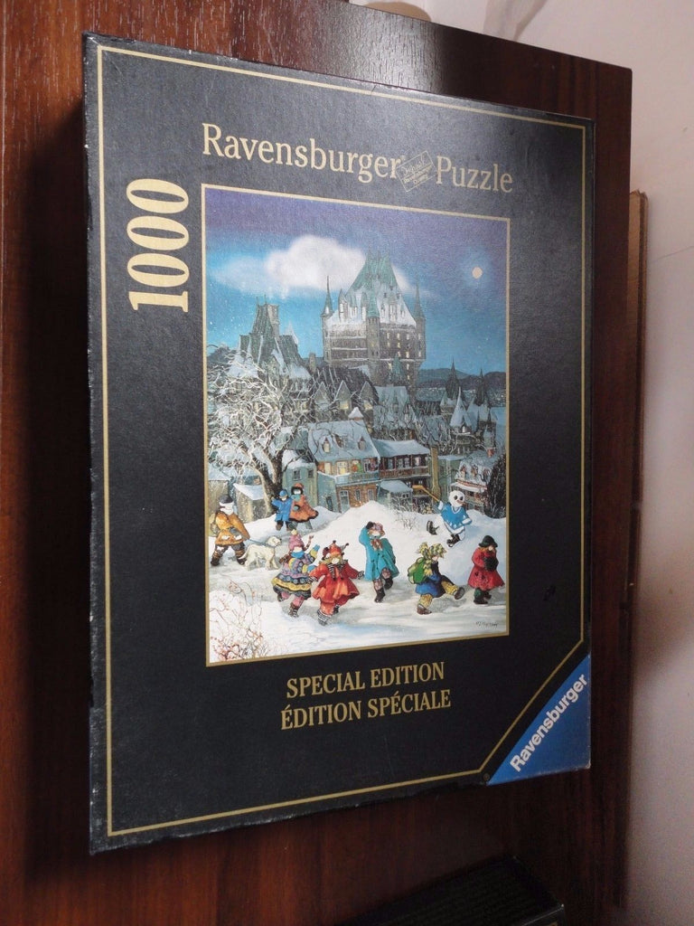 Ravensburger Puzzle Canada Artist Pauline Paquin Winter Magic Chateau Frontenac