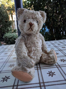 Antique 1905 - 1933 Steiff Teddy Bear 28PAB 5328,2 White Mohair 15.7 inch Tall