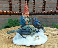 Rien Poortvliet David Gnome Thomas Feathered Friends Forever 6.5
