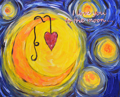 Love you to the moon Canvas Class