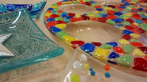 Colourful Glass fused dishes