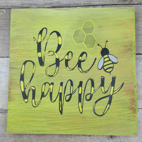Bee Happy Vinyl Cut Out