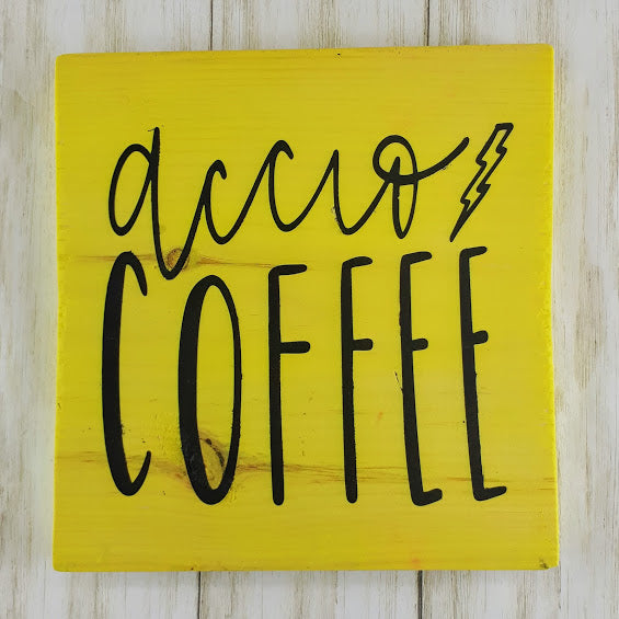 Accio Coffee Wood Art