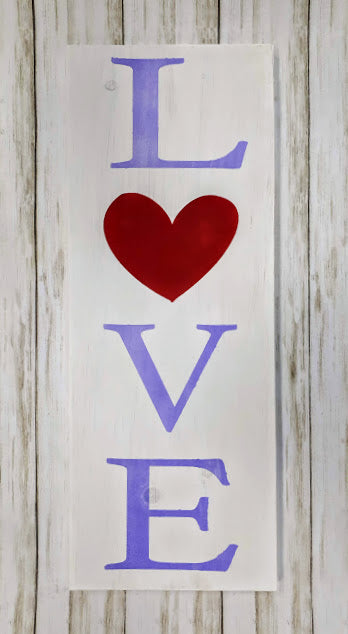 """Love"" Wood Art"