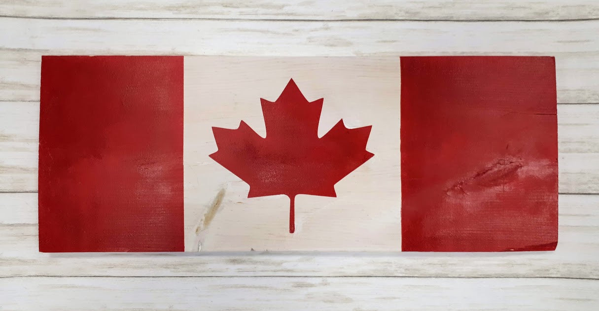 Canada Flag Wood Art