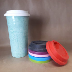 Travel Tumbler with Silicone Lid