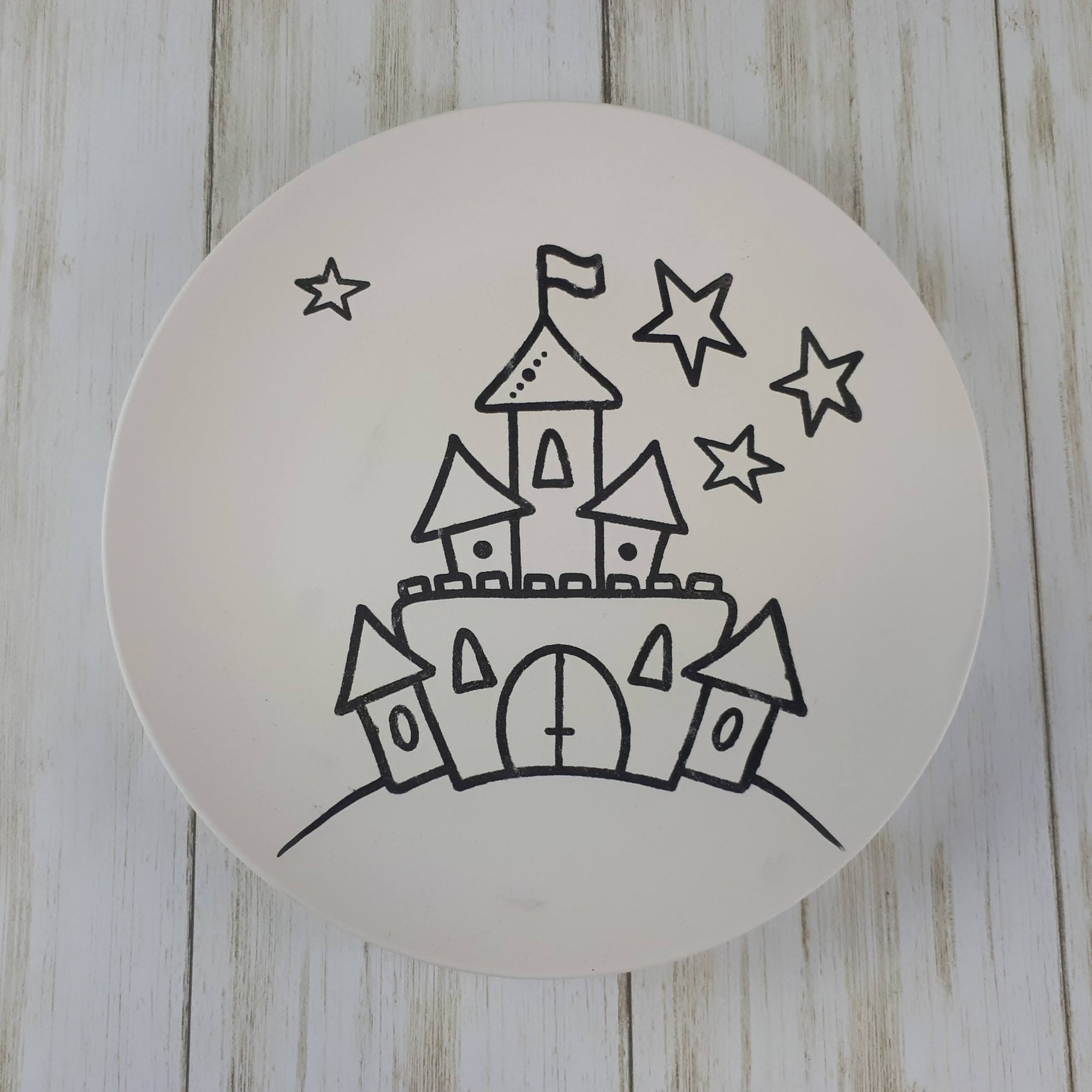 Castle Colouring Book Salad Plate