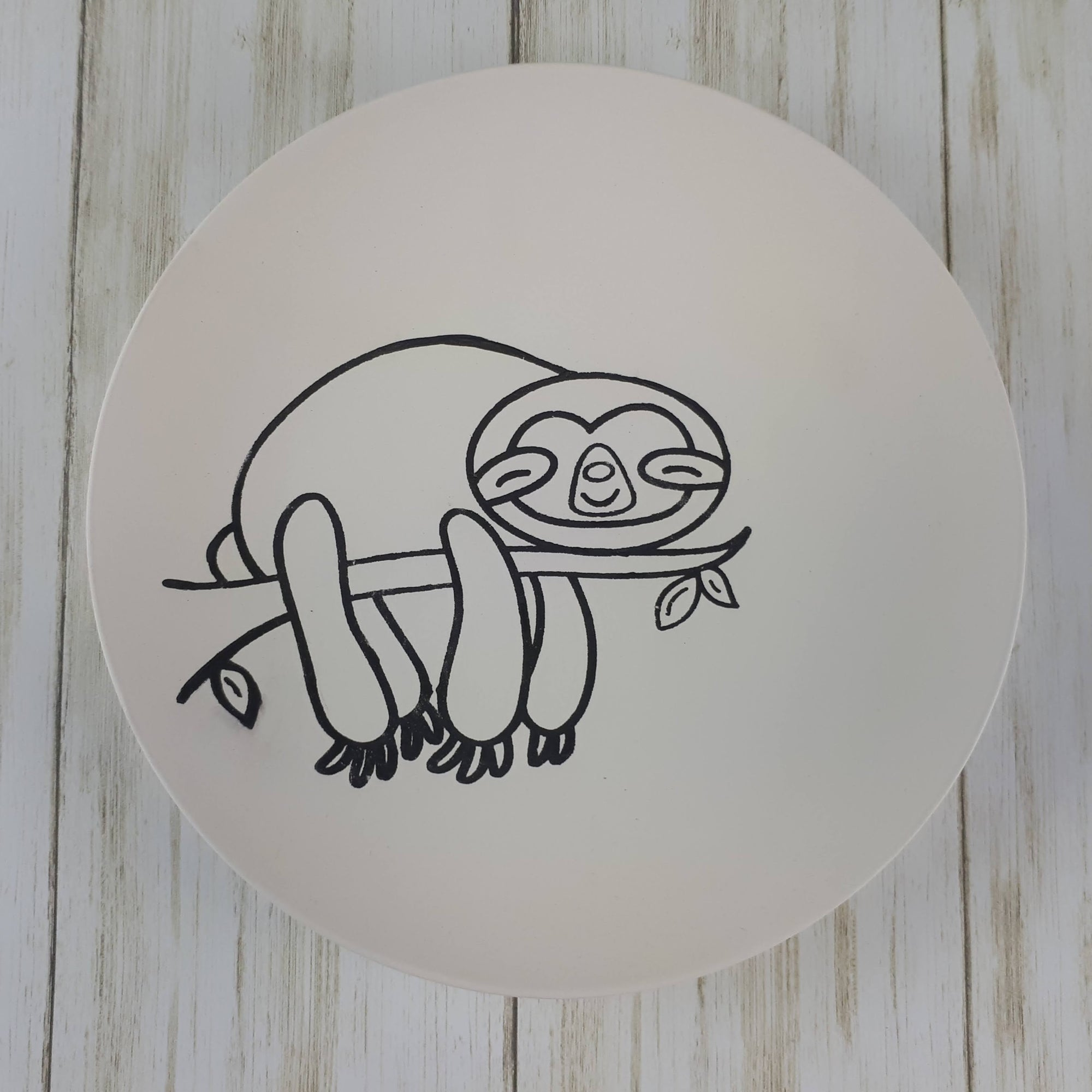 Sloth Colouring Book Salad Plate