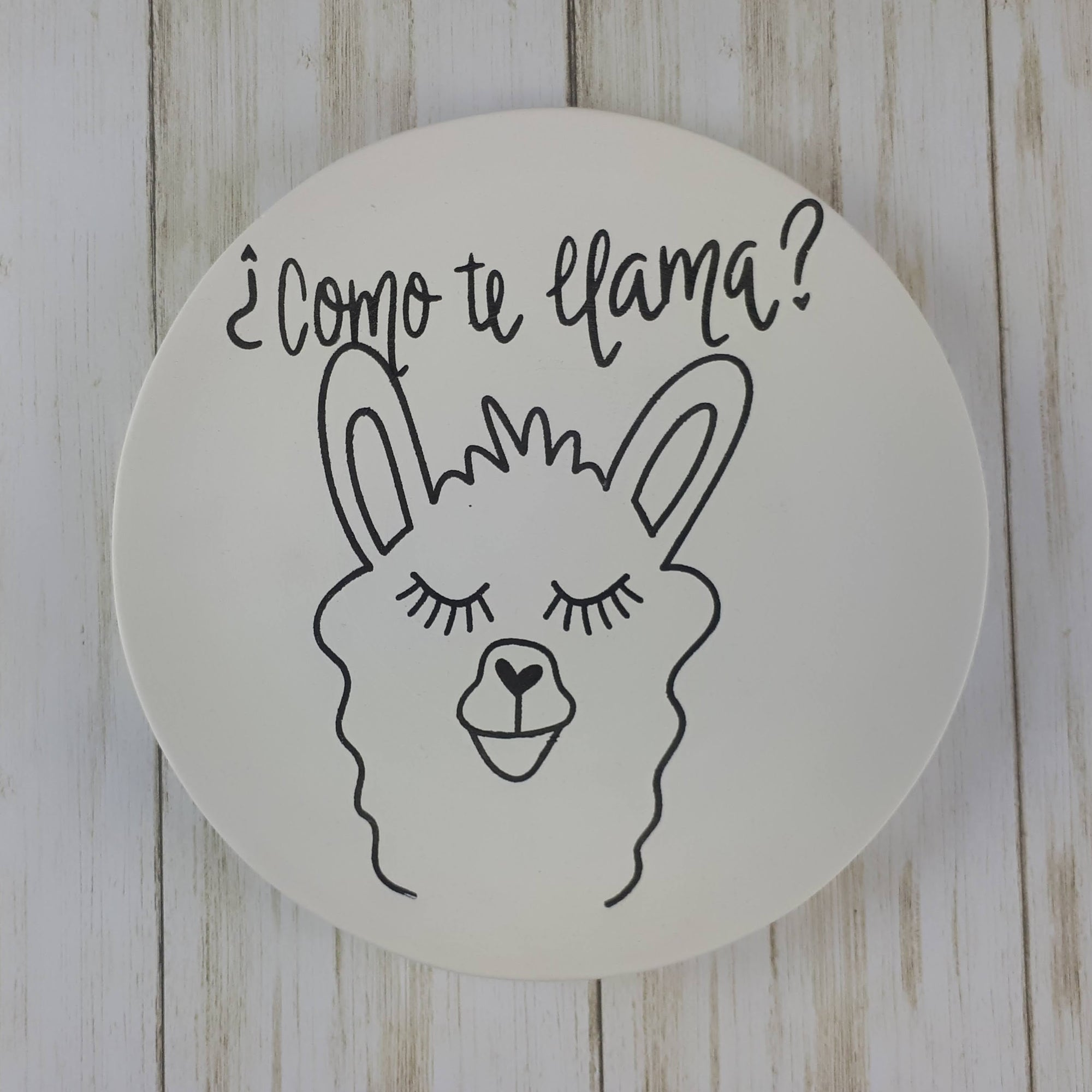 Llama Colouring Book Salad Plate