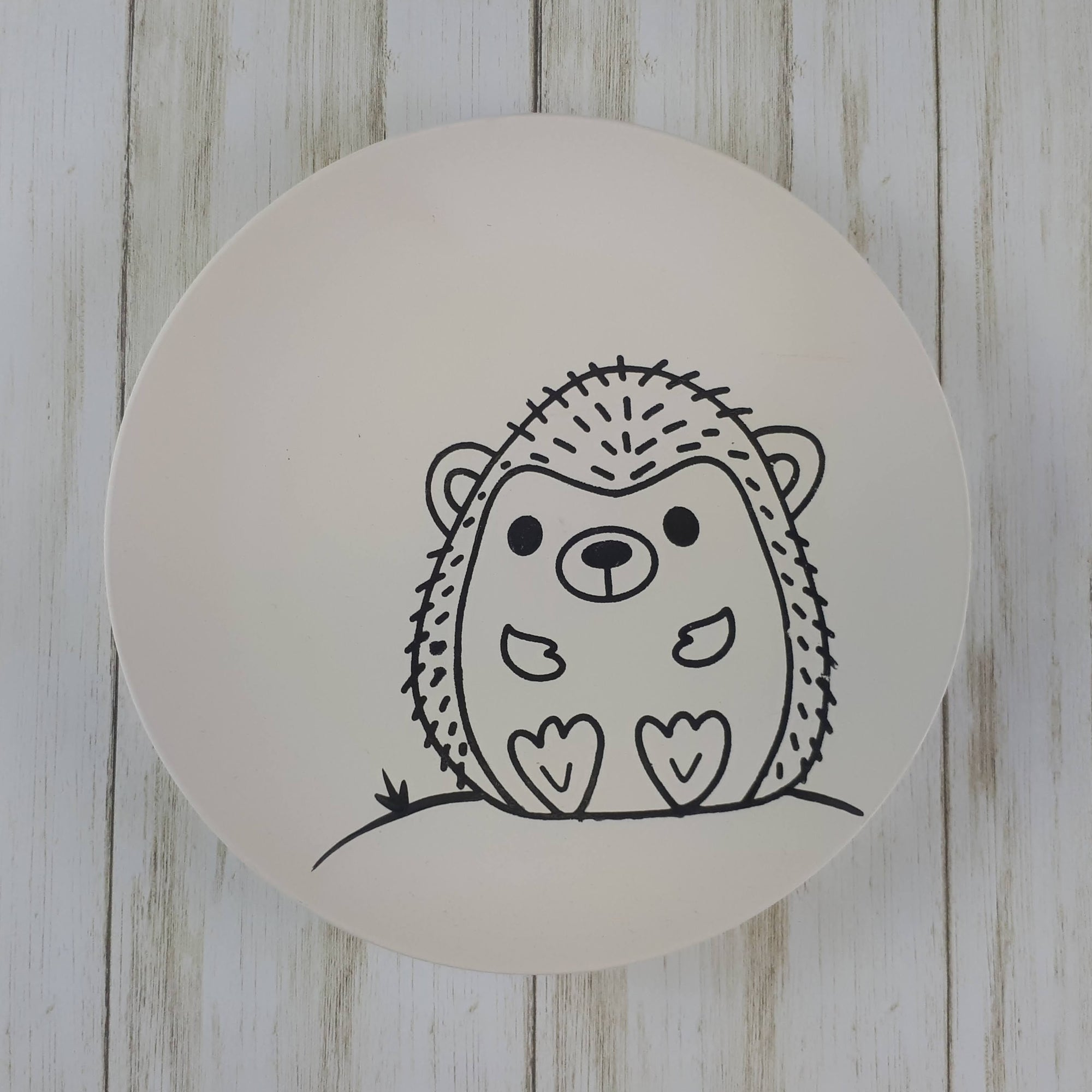 Hedgehog Colouring Book Salad Plate