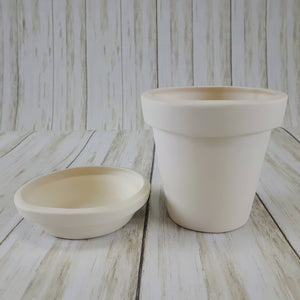 Small Flower Pot w/Tray