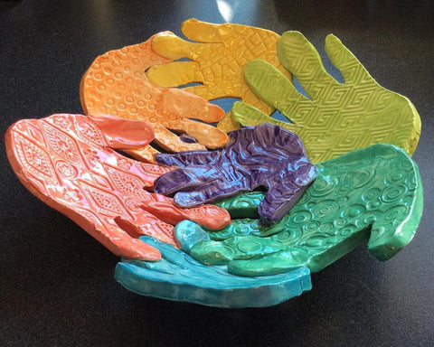 Family Clay Hand print Bowl Workshop (Deposit Only)