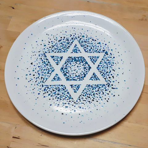 Star Of David Pointillist Platter