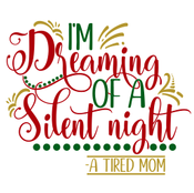 Dreaming Of A Silent Night Wood Art