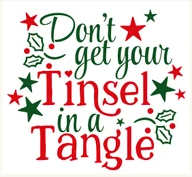 Don't Get Your Tinsel In A Tangle Wood Art