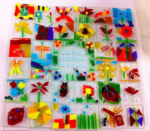 Glass Fused Sun Catcher or Plate by the Class!