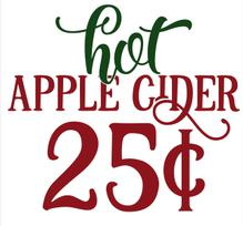 Hot Apple Cider Vinyl Cut Out