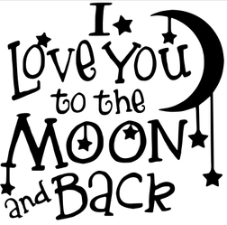 Love You To the Moon Wood Art