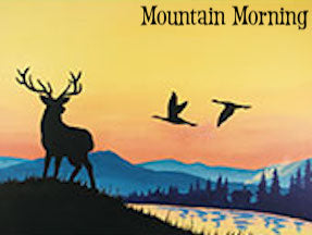 Adult Canvas Night, Mountain Morning
