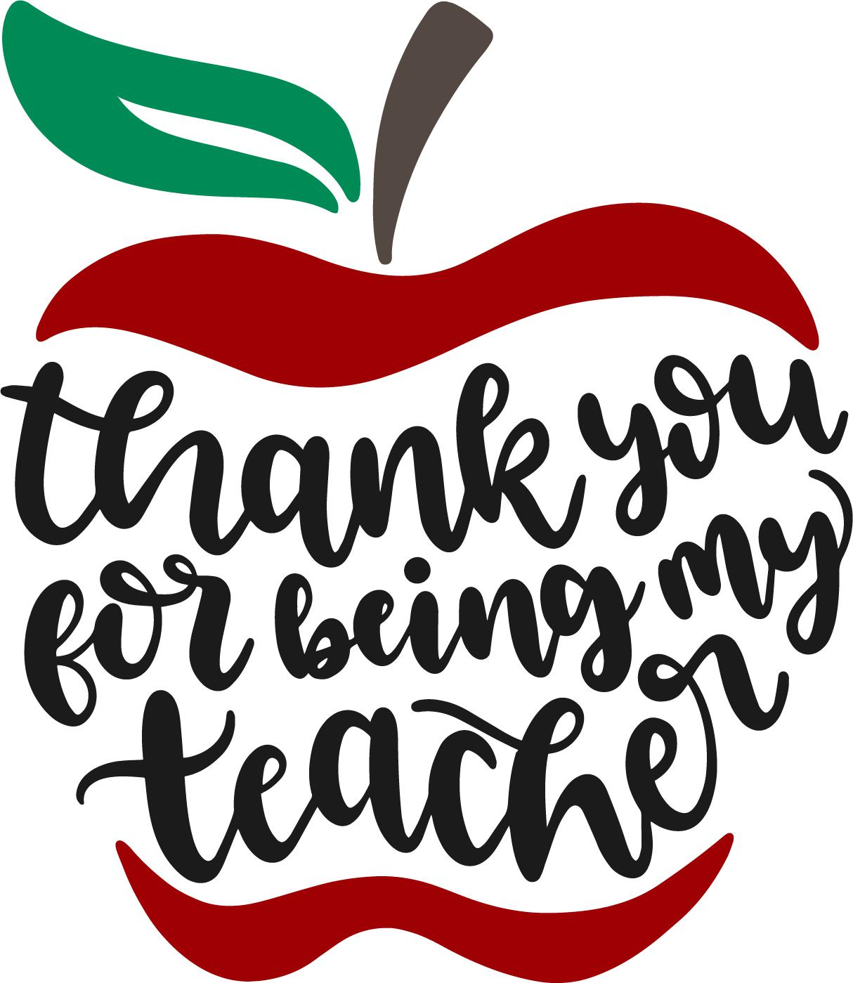 Thank You Teacher Vinyl Cut Out
