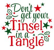 Tinsel In a Tangle Vinyl Cut Out