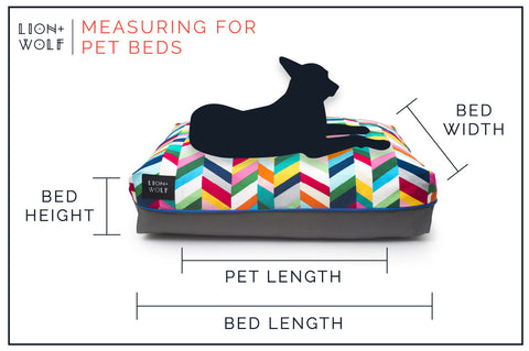 Lion + Wolf Measuring Dog Bed Guide