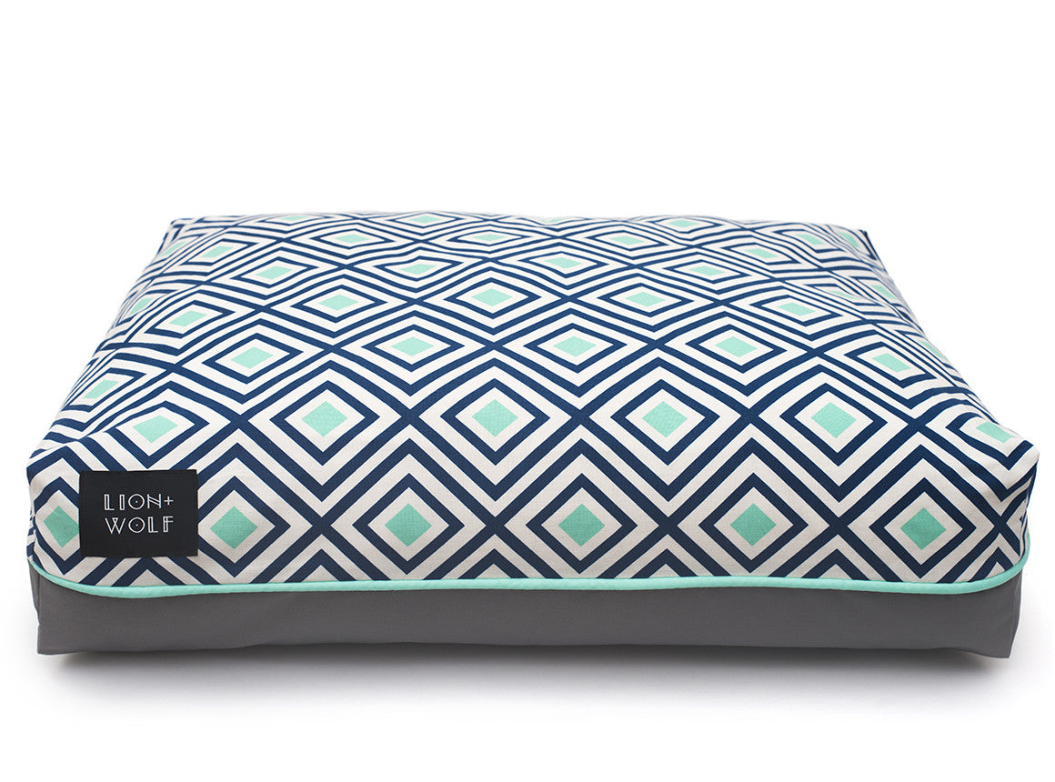 Preferred Chevron Dog Bed | Colorful Dog Beds from Lion + Wolf NT53