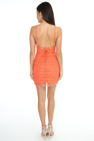 Lace-Up Back Dress