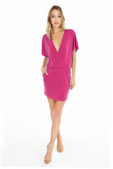 Surplice Buckle Dress